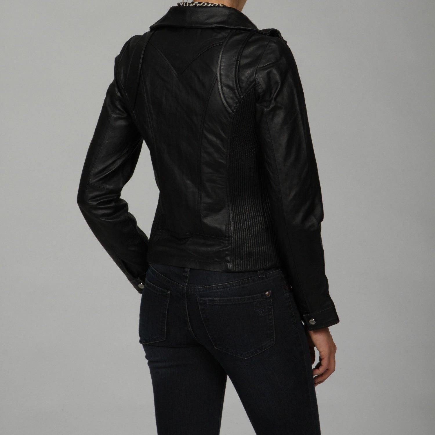 professional sale popular style professional design Steve Madden Women's black Leather Jacket