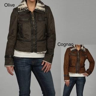 Steve Madden Women's Faux-fur Bomber Jacket