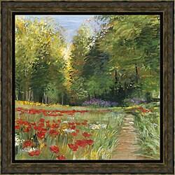 Carol Rowan 'Field of Flowers' Framed Print Art