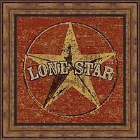 Peter Horjus 'Lone Star' Framed Print Art