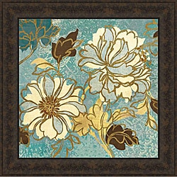 Wild Apple 'Sophias Flowers I - Blue' Framed Print Art