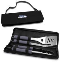 Picnic Time Seattle Seahawks 3-piece Metro BBQ Tool Tote