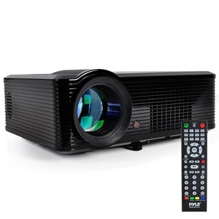Pyle PRJLE33 Widescreen Projector, 1080p HD Support, Built-In Speakers, (2) HDMI Inputs, PiP