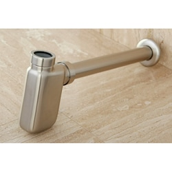 Decorative Satin Nickel Bottle Trap