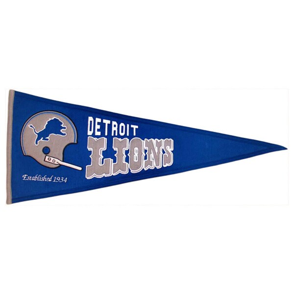 Detroit Lions Wool Throwback Pennant