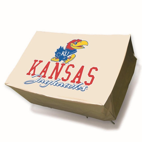 NCAA Kansas Jayhawks Rectangle Patio Set Table Cover