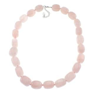 Pearlz Ocean Rose Quartz Beaded Necklace|https://ak1.ostkcdn.com/images/products/6195353/P13845075.jpg?impolicy=medium