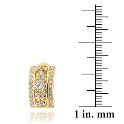 Icz Stonez 14k Yellow Goldplated Cubic Zirconia Hoop Earrings - Thumbnail 2