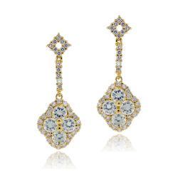 Icz Stonez 14k Yellow Goldplated Cubic Zirconia Dangle Earrings