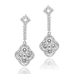 Icz Stonez Rhodiumplated Cubic Zirconia Dangle Earrings
