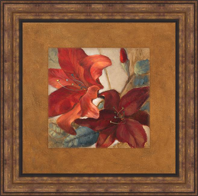 Lanie Loreth 'Crimson Fleurish I' Framed Print Art