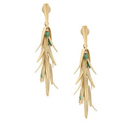 Rivka Friedman Green Quartzite Chili Dangle Earrings