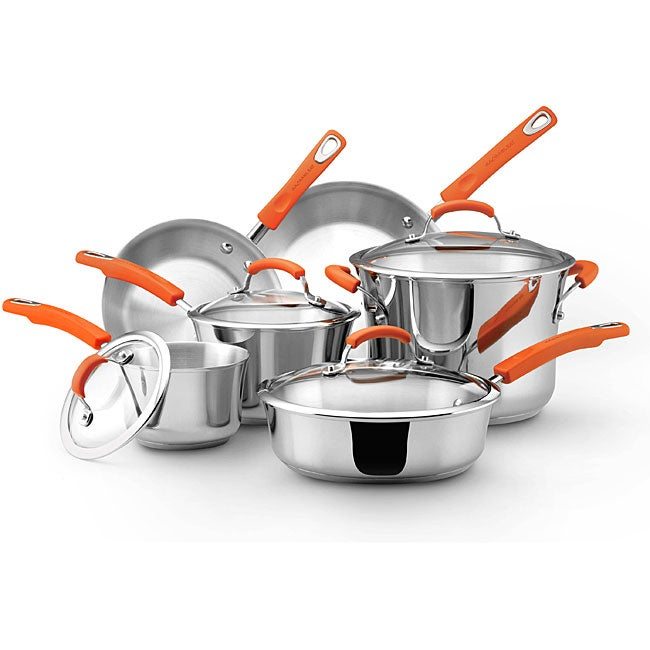 Stainless Steel II 10-piece Cookware Set (Rachael Ray Sta...