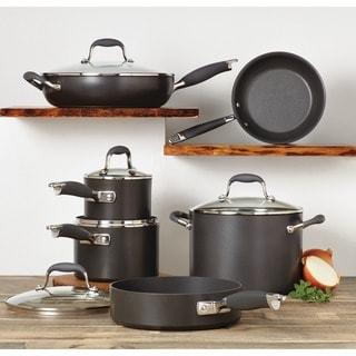Anolon Advanced Hard-Anodized Nonstick 11-piece Grey Cookware Set
