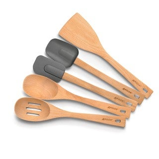 Anolon Tools and Gadgets 5-piece Beechwood Kitchen Tool Set