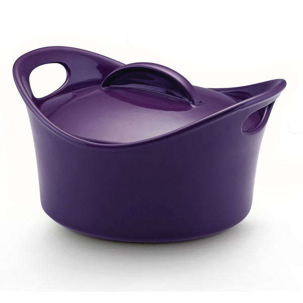Shop Rachael Ray Purple Stoneware 2 75 Quart Covered Round