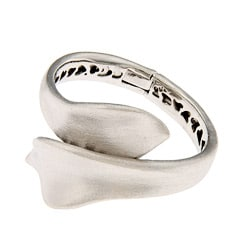 Rivka Friedman Silvertone Satin Ribbon Cuff Bracelet