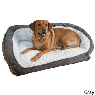 Serta Memory Foam Lounge Bolster Pet Bed
