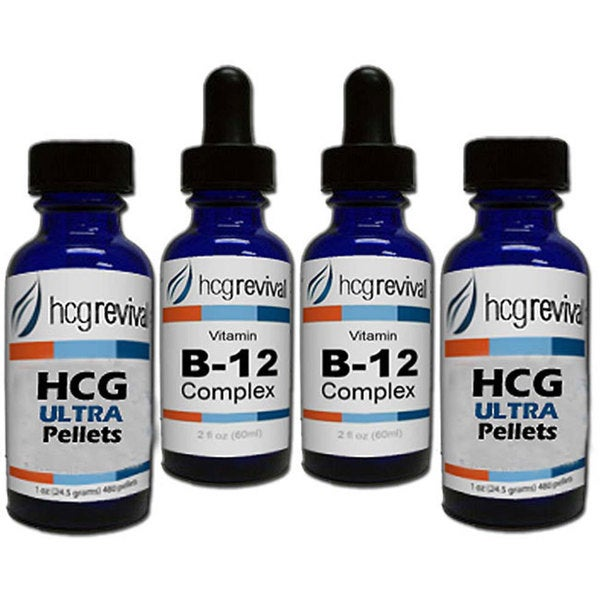 HCG Alternative Ultra Pellets 43-day Program Couples Kit with Vitamin B12
