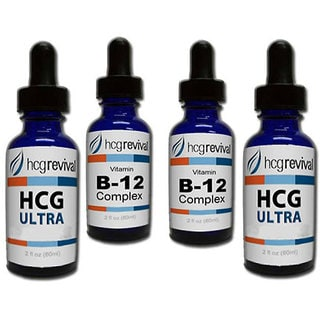 HCG Alternative Ultra Drops Couples Program Kit with Vitamin B12