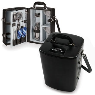 Picnic Time Seattle Seahawks Black Manhattan Cocktail Case
