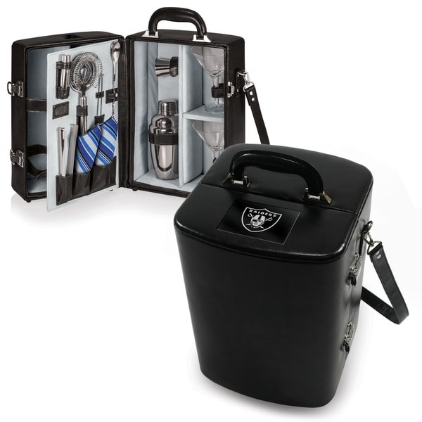 Picnic Time Oakland Raiders Black Manhattan Cocktail Case