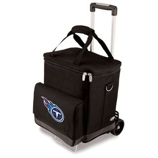 Picnic Time Black Tennessee Titans Cellar with Trolley