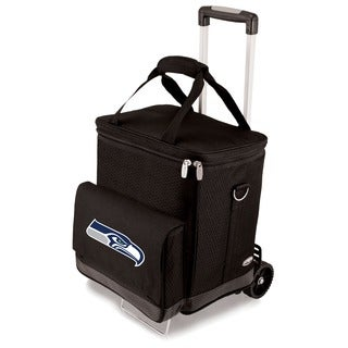 Picnic Time Black Seattle Seahawks Cellar with Trolley