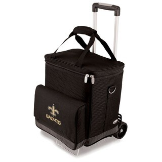 Picnic Time Black New Orleans Saints Cellar with Trolley