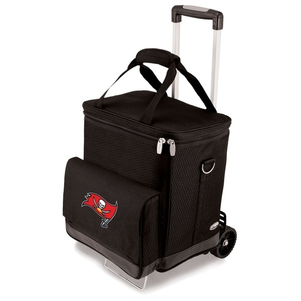 Picnic Time Black Tampa Bay Buccaneers Cellar with Trolley