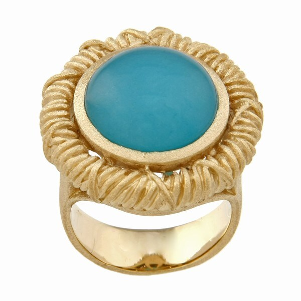 Rivka Friedman Caribbean Blue Quartzite Ring