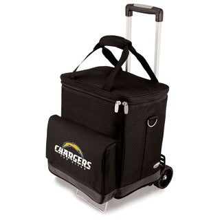 Picnic Time Black San Diego Chargers Cellar with Trolley