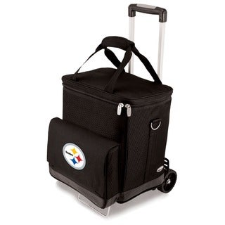 Link to Picnic Time Black Pittsburgh Steelers Cellar with Trolley Similar Items in Fan Shop