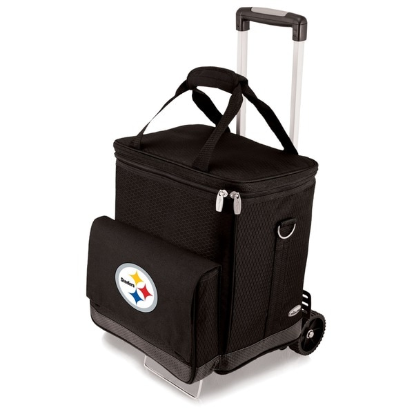 Picnic Time Black Pittsburgh Steelers Cellar with Trolley