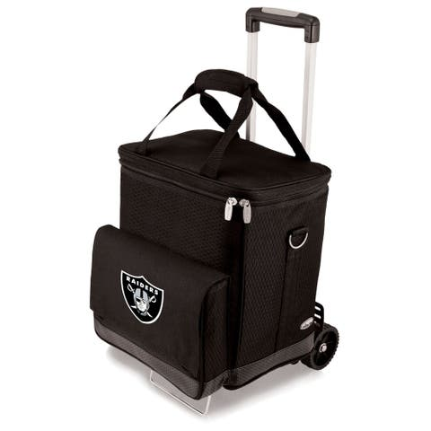 Picnic Time Black Oakland Raiders Cellar with Trolley