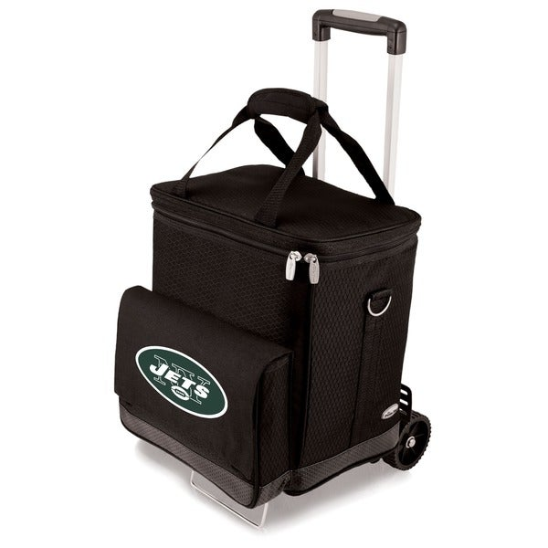 Picnic Time Black New York Jets Cellar with Trolley
