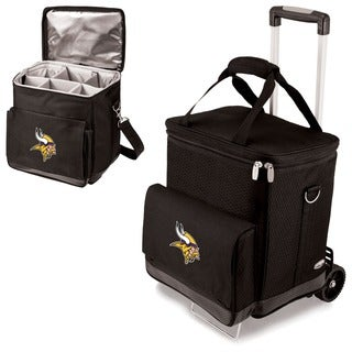 Black Minnesota Vikings Cellar with Trolley