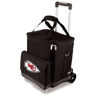 Picnic Time Black Kansas City Chiefs Cellar with Trolley