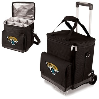 Picnic Time Black Jacksonville Jaguars Cellar with Trolley