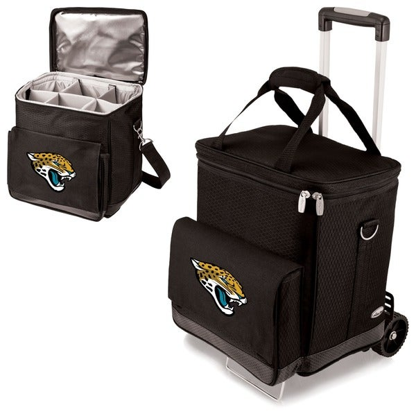 Picnic Time Black Jacksonville Jaguars Cellar with Trolley