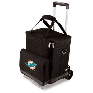 Picnic Time Black Miami Dolphins Cellar with Trolley
