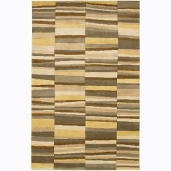 Artist's Loom Hand-knotted Contemporary Geometric Wool Rug (2'6x7'6)