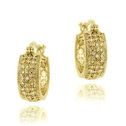DB Designs 18k Yellow Gold over Silver Diamond Accent Filigree Hoop Earrings|https://ak1.ostkcdn.com/images/products/6196045/77/473/DB-Designs-18k-Yellow-Gold-over-Silver-Diamond-Accent-Filigree-Hoop-Earrings-P13845622.jpg?impolicy=medium