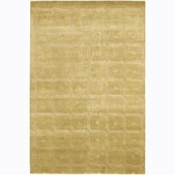 Artist's Loom Hand-knotted Contemporary Abstract Rug (2' x 3')