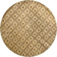 Artist's Loom Hand-knotted Contemporary Abstract Rug (7'9 Round) - 7'9