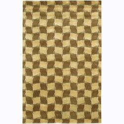 Artist's Loom Hand-knotted Contemporary Geometric Rug (2' x 3')