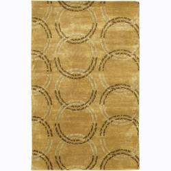 Artist's Loom Hand-knotted Contemporary Geometric Rug (2' x 3') - 2' x 3'