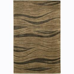 Artist's Loom Hand-knotted Contemporary Abstract Rug (2'6 x 7'6)