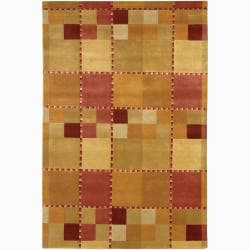 Artist's Loom Hand-knotted Contemporary Geometric Rug (2'6 x 7'6)