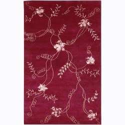 Artist's Loom Hand-knotted Transitional Floral Rug (2'3 x 10')